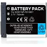 High Capacity InfoLithium NP-BD1 / NP-FD1 Replacement Lithium-Ion Battery for select Sony cybershot models