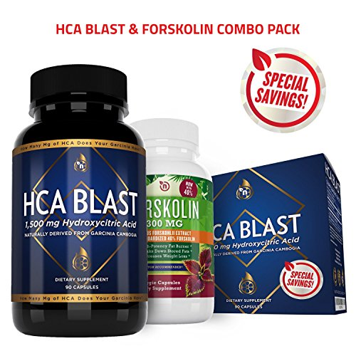 NutriGood Labs HCA Blast 1500mg and Garcinia Forskolin Weight Loss Supplements (Lichi Extract compare prices)