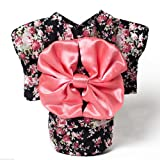 Dogloveit Japanese Kimono Style Costume Dog Clothes For Puppy Cat - Black - Small