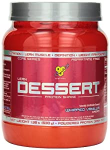 BSN LEAN DESSERT PROTEIN - Whipped Vanilla Cream, 1.38 lb (18 Servings)