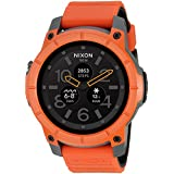 Nixon Men's 'Mission' Quartz Rubber Casual Watch, Color:Orange (Model: A1167-2658)