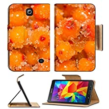 buy Samsung Galaxy Tab 4 7.0 Inch Flip Pu Leather Wallet Case Sea Buckthorn Berries With Sugar Image 22604596 By Msd Customized Premium