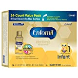 Enfamil  Infant Baby Formula - Ready-to-Use 8 fl oz Plastic Bottles, 6 Count (Pack of 4)