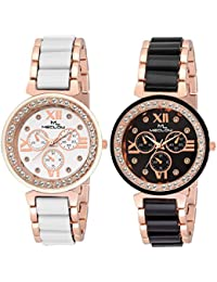 Latest Designer Fashionable Round Diamond Beaded Dial Watch Casual / Party Wear Watches For Girls / Ladies / Women...