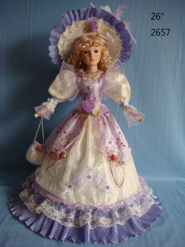 Jmisa 26 inch Umbrella Porcelain Dolls Victoria Style,2657A (Old Porcelain Dolls compare prices)