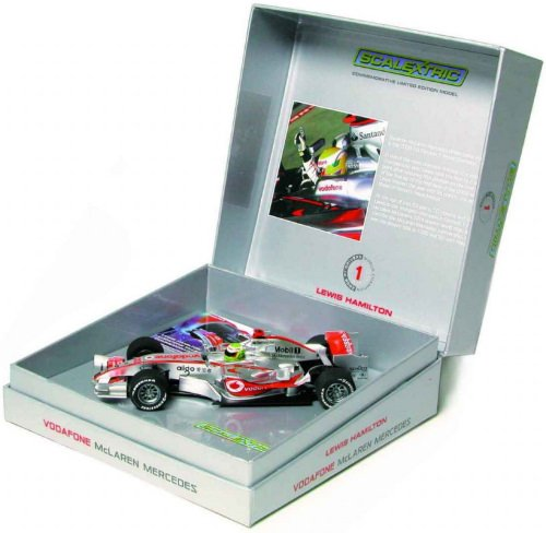 Scalextric 1:32 Scale C3025A Lewis Hamilton 2008 World Champion (Limited Edition) High Detail Car
