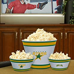 Dallas Stars Memory Company Team Melamine 3-Piece Bowl Set NHL Hockey Fan Shop Sports Team Merchandise