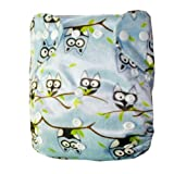 Alva Baby Fitted Pocket Washable Adjustable Reuseable Cloth Diaper With 2 Inserts M26