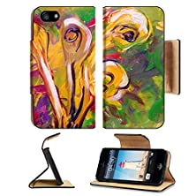 buy Apple Iphone 5 Iphone 5S Flip Case Nice Interesting Floral Abstract Painting On Paper Image 11197012 By Msd Customized Premium Deluxe Pu Leather Generation Accessories Hd Wifi Luxury Protector