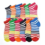 Angelina Dozen-Pack COTTON Low Cut Socks, #2305_CST_1-3