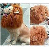 Gimilife Dog Costume Lion Mane Wig(Light Brown)
