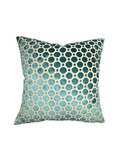 "The Pillow Collection 18"" Spring Pillow, Turquoise"