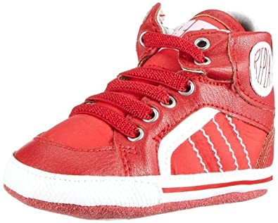 REPLAY Hewes GBX03 .000.C0042S, Jungen Sneaker, Mehrfarbig (RED OFF WHITE 1368), EU 18
