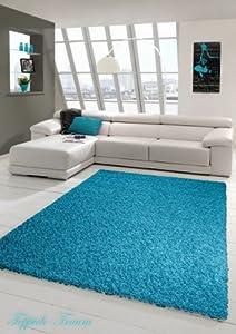 Shaggy Langflor Hochflor Teppich Türkis (Shaggy Traum) Größe 200 x 290 cm   Kundenbewertung und Beschreibung