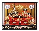 人形の久月 雛人形 ケース 五人飾り 雛人形 幅53cm h263-k-4-36