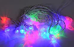WHITE FANCY LIGHT (GUJRATI STYLE ) MULTI COLOUR (28 BULB 7 METER) FOR DIWALI AND OTHER FESTIVAL