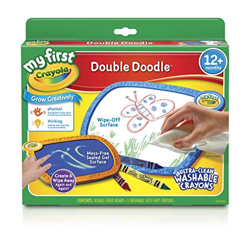 Crayola My First No Mess Double Doodle Wipe Away Coloring Board
