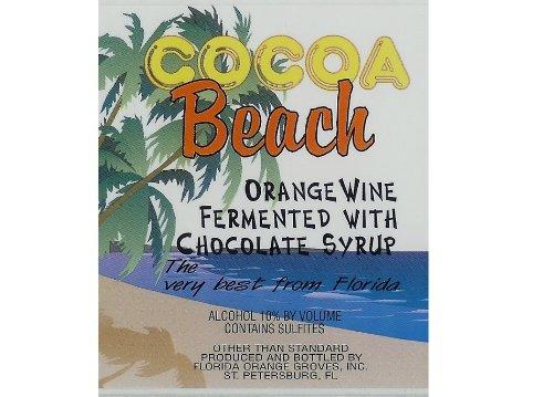 Nv Florida Orange Groves Cocoa Beach - Orange/Chocolate Fruit Wine 750 Ml