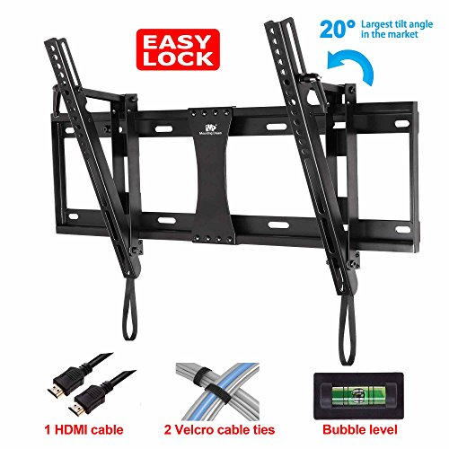 Mounting Dream® Md2165-Lk Tilt Tv Wall Mount Bracket For 40-70 Inches Tvs With Vesa 200X100 To 600X400Mm, Loading Capacity 132 Lbs, 0-20 Degree Forward Tilt, Including 6 Ft Hdmi Cable And Magnetic Bubble Level (For Samsung, Sony, Vizio, Lg, Sharp, Tcl 40,