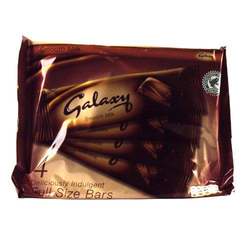 Galaxy Chocolate Bar 4 Pack 184g