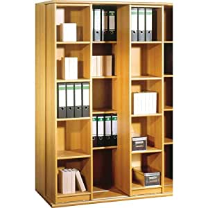 Delamaison 019 11 meuble rangement classeur coulissant for Meuble cuisine coulissant vertical