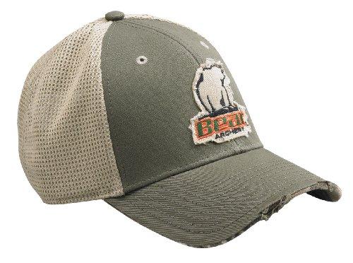 Bear Archery Olive Color Frayed Style Mesh Hat
