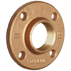 Brass pipe fitting class 125 floor flange 3 4 x 3 4 for 1 inch square floor flange