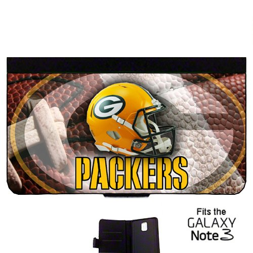 Packers Wallet cell phone Case / Cover Fits Samsung Galaxy Note 3 Great Gift Idea Green Bay Football