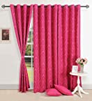 Swayam Chirpy Pink Window Curtain
