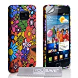 Samsung Galaxy S2 Multicoloured Floral Silicone Caseby Yousave Accessories