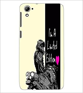 PrintDhaba Quote D-4976 Back Case Cover for HTC DESIRE 826 (Multi-Coloured)