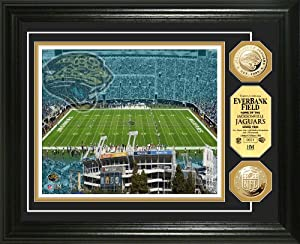 NFL Jacksonville Jaguars Stadium Gold Coin Photo Mint by Highland Mint