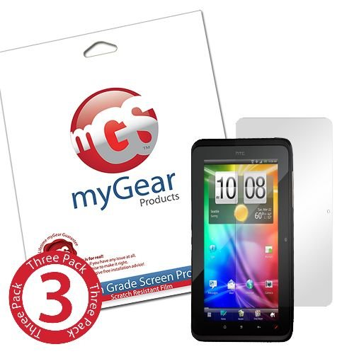 myGear Products CLEAR LifeGuard Screen Protectors for HTC EVO View 4G (3 Pack)