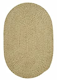Kids American Made Textured Rug 2-Feet by 3-Feet Oval Sprout Green Carpet