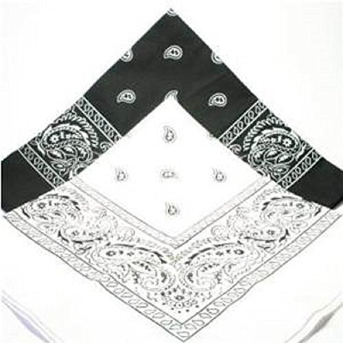 pack-of-2-bandana-1-x-black-and-1-x-white-hair-head-neck-scarf-scarves