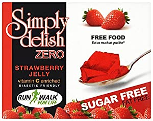 Simply Delish Sugar Free Instant Strawberry Jelly 8 g (Pack of 8)