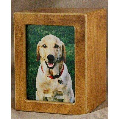Large Photo Pet Urn in Natural