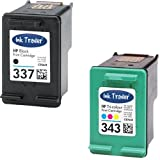 HP 337 Black & 343 Tri-Colour Remanufactured Printer Ink Cartridges For use with HP Officejet 100 150 6310 6315 H470 H470b H470wbt K7100 Printers by Ink Trader