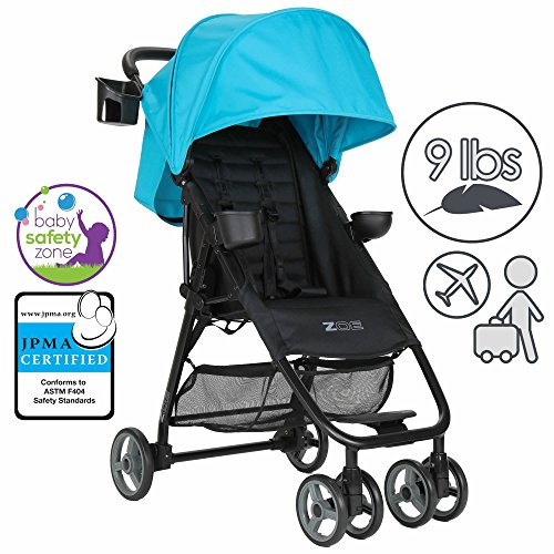 Find Discount ZOE XL1 BEST Xtra Lightweight Travel & Everyday Umbrella Stroller System (Aqua)