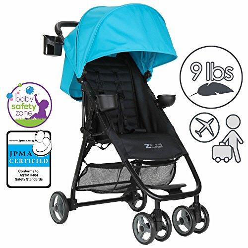 Cheap ZOE XL1 BEST Xtra Lightweight Travel & Everyday Umbrella Stroller System (Aqua)