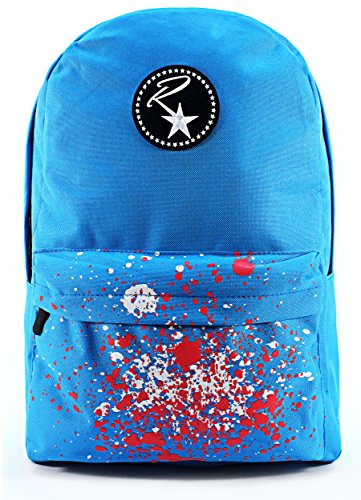 ruckstar-rucksack-with-reinforced-stitching-padded-laptop-compartment-and-paint-design-pocket-blue