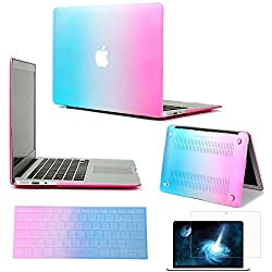 Neway 3 in 1 bundle Matte Surface Crystal Rubberized Hard Shell Case cover protector for Apple Macbook Air 11
