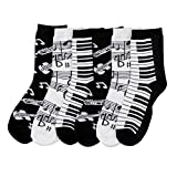 Kids Colorful & Fun Crew Socks Assorted 6 Pack (Size 6-8) (Music)