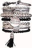 CAT HAMMILL ( キャットハミル ) オーストラリア の キュート ドリーム love ブレスレットセット chunky bracelet set black silver ブラック シルバー タッセル ブレスレット ポーチ ゲット 海外 ブランド