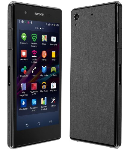 Skinomi® Techskin - Sony Xperia Z1S Screen Protector + Brushed Steel Full Body Skin Protector / Front & Back Premium Hd Clear Film / Ultra High Definition Invisible And Anti Bubble Crystal Shield With Free Lifetime Replacement Warranty - Retail Packaging