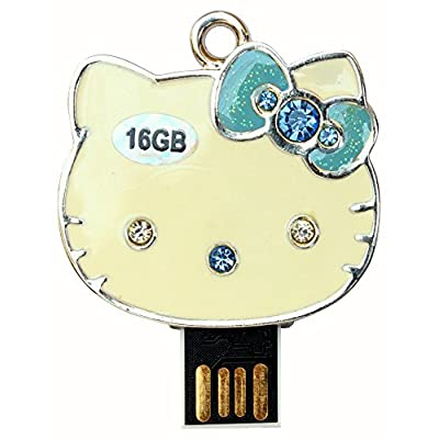 16 GB Pen Drive Yellow Kitty CartoonShape USB 2.0 Pen Drive CR1028