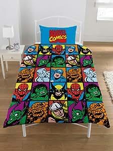 parure linge de lit housse de couette hulk spiderman. Black Bedroom Furniture Sets. Home Design Ideas