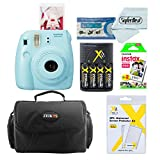 Fujifilm Instax Mini 8 Instant Film Camera (Blue) Bundle with Accessories (9 Items)