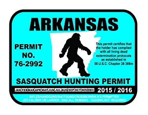 Arkansas sasquatch hunting permit license for How much is a fishing license in arkansas