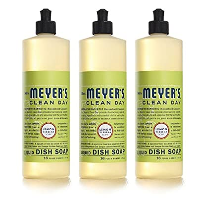 Mrs. Meyer's Clean Day Liquid Dish Soap,Pack of 3(48 oz)